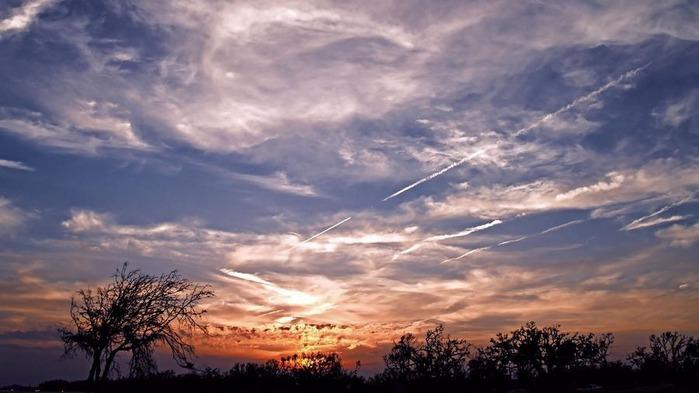 Прекрасный закат солнца 27