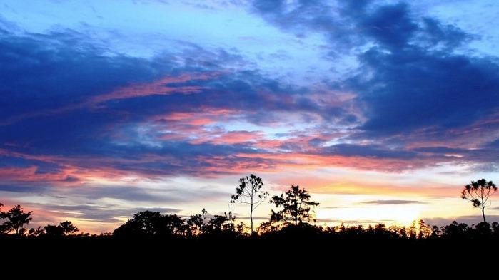 Прекрасный закат солнца 28