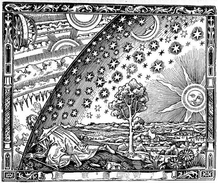 716px-FlammarionWoodcut (700x586, 181Kb)