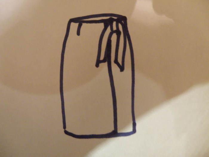 """С завязками. о  """"выкройка юбки тюльпан с запахом """" а так же о  """"костюм чудо..."""