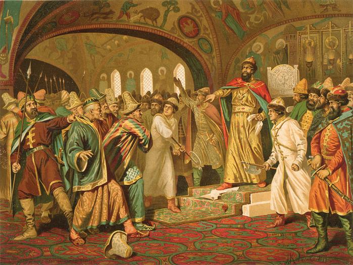 Свержение татарского ига Иоанном III. 1480 год (700x525, 216Kb)