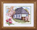 Превью ПС-332 «Весна в деревне» (400x322, 45Kb)