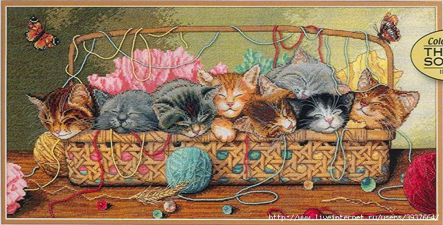 ВЫШИВКА КРЕСТОМ Кошки, схема