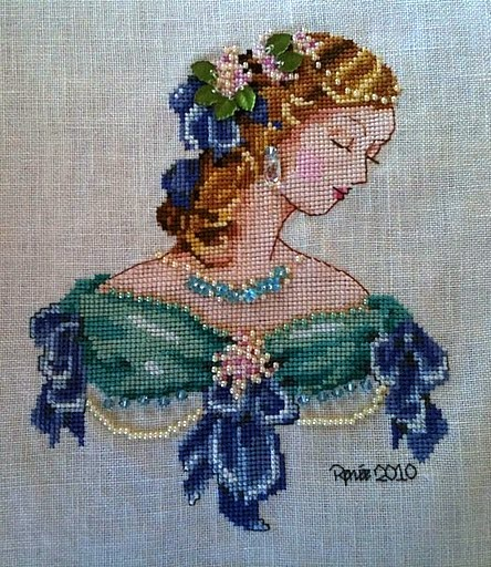 craft home decor: lady cross stitch kits