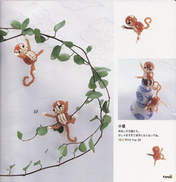 Схема обезьянки из бисера.