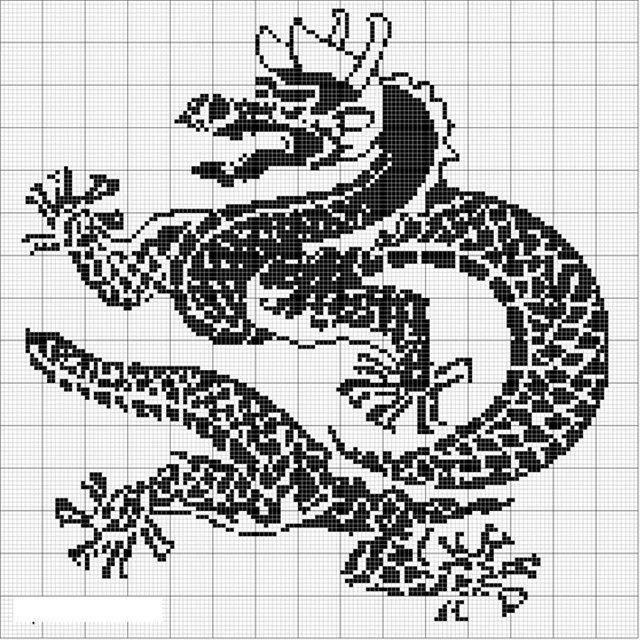 Амигуруми схема дракона