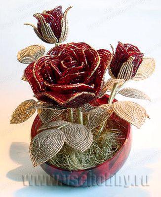Цветы из бисера просмотр KrasMama.Ru :: Просмотр темы - Цветы из бисера.