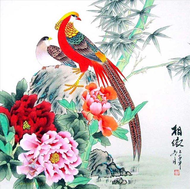 Гохуа - техника и стиль китайской живописи, в которой используют тушь и водяные краски на шелке и бумаге.