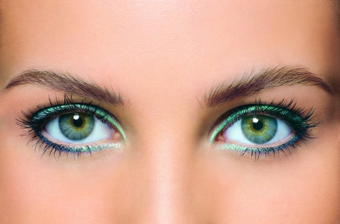 Perfect eye makeup for green eyes
