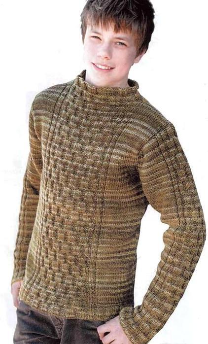 Ирландское вязание спицы 6: см. схемы 2 и 3. ... Вязание для мужчин 19.