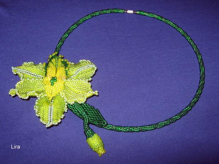 Орхидея из бисера и лески мастер класс с пошаговым
