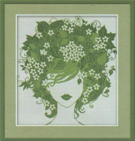 Наборы для вышивания Вышивка. Вышивка крестом девушка цветок.