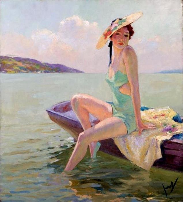 Edward Cucuel - The Bathing Beauty (635x700, 297Kb)