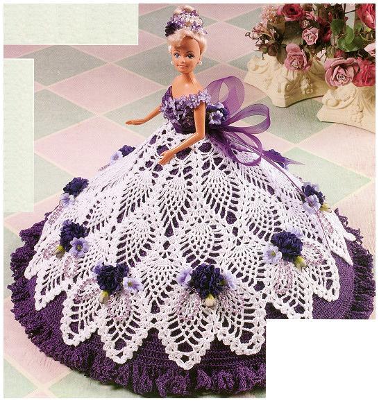 Платья вязаные крючком для куклы барби