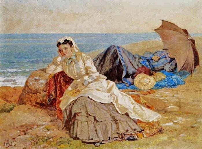 Albert Fitch Bellows (1830-1883) Seaside Reflections (700x515, 310Kb)
