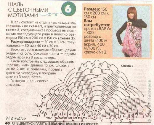 страна Мастеров-блог Метель. шаль с цветочными мотивами.