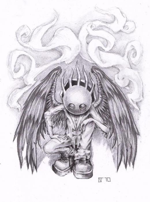 готические рисунки тату