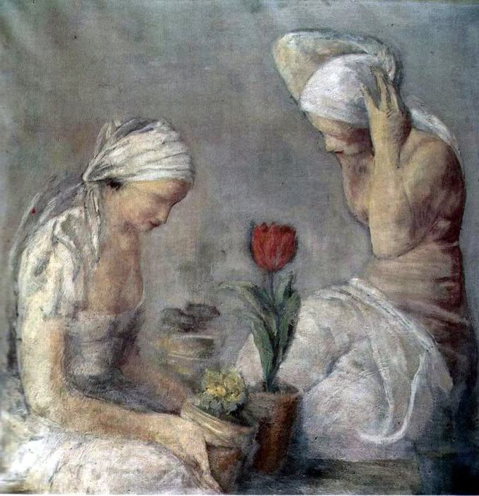 Leopold Gottlieb_kobiety_i_tulipan_ (677x700, 84Kb)