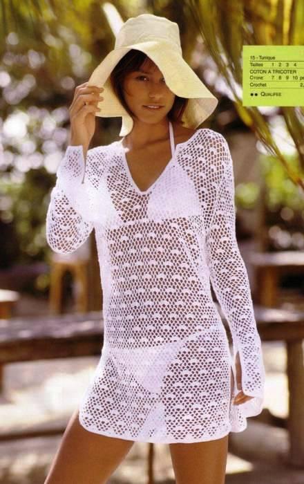 вязание крючком пляжная мода