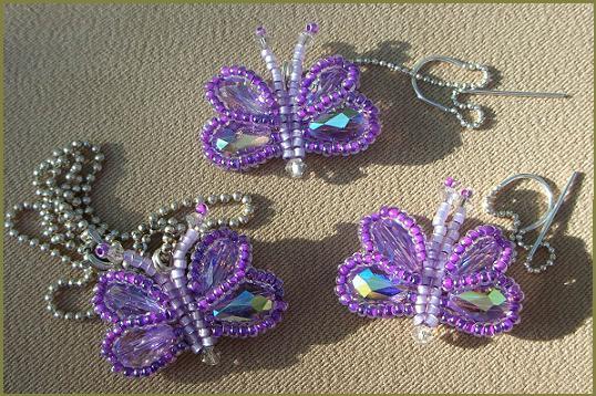 Миленькая бабочка из бисера МК от mama27.