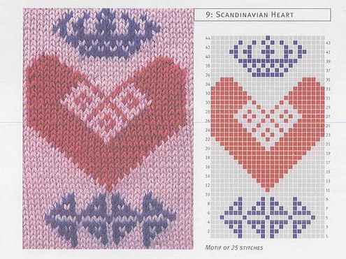 valentine flowers: jacquard heart