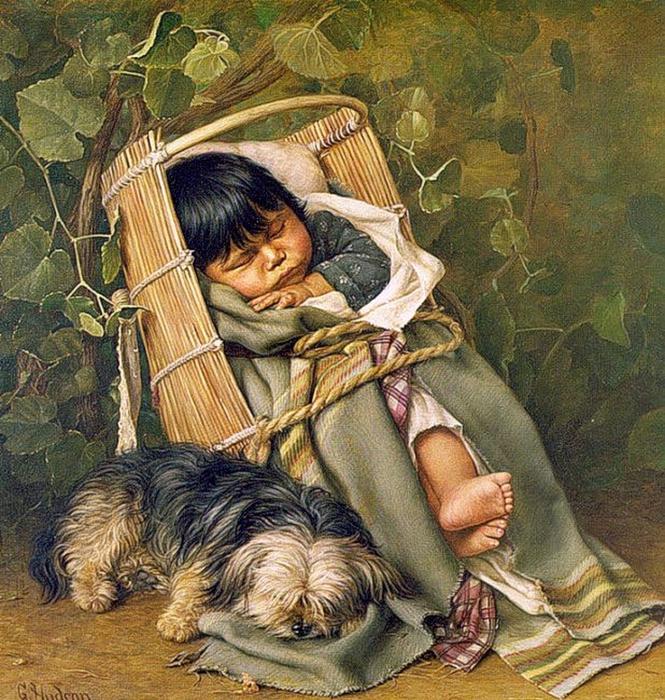 Grace Carpenter Hudson (1865-1937).baby_bunting (665x700, 448Kb)