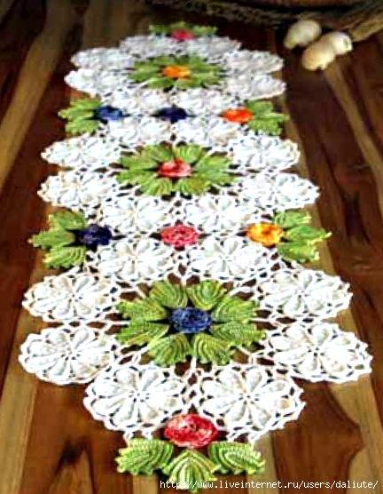 Вязание салфеток крючком фото цветы.