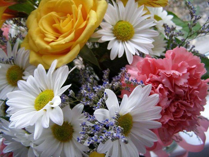 Картинки букеты разных цветов 2
