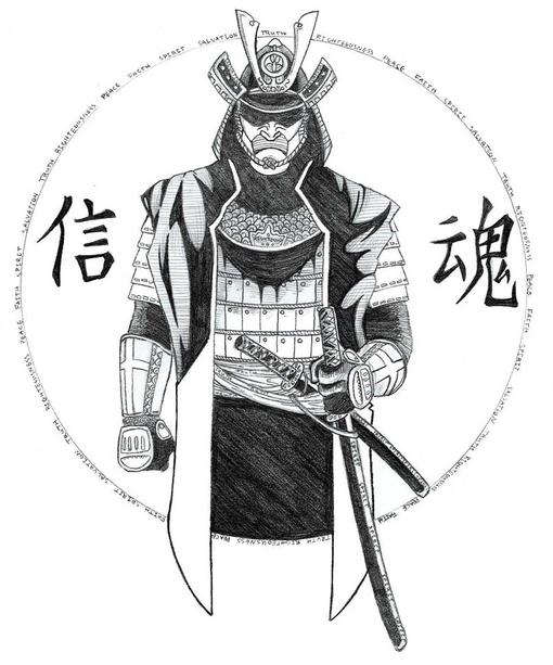 рисунки и фото самураев