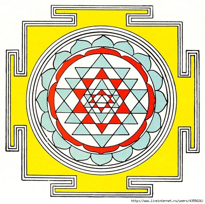 шри чакра янтра (700x698, 355Kb)
