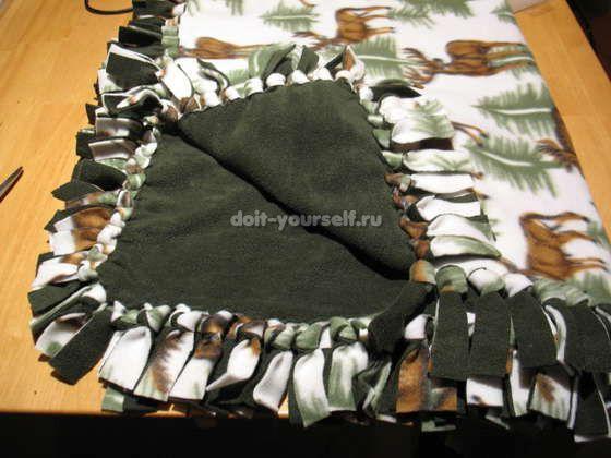Плед коврик своими руками