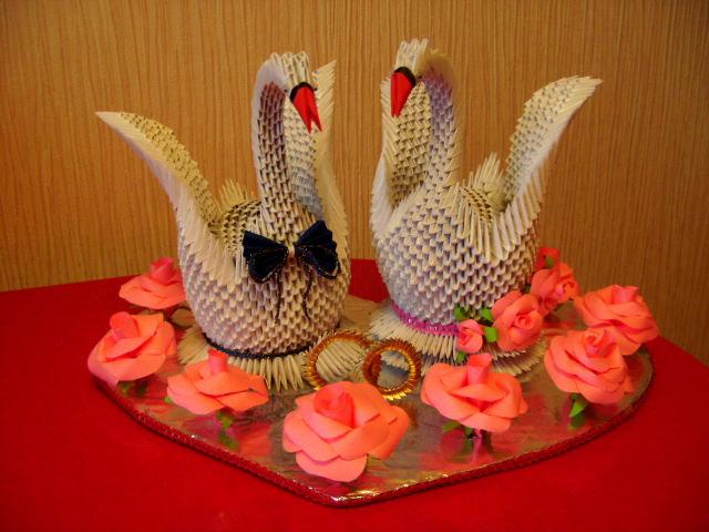 Свадебные лебеди.