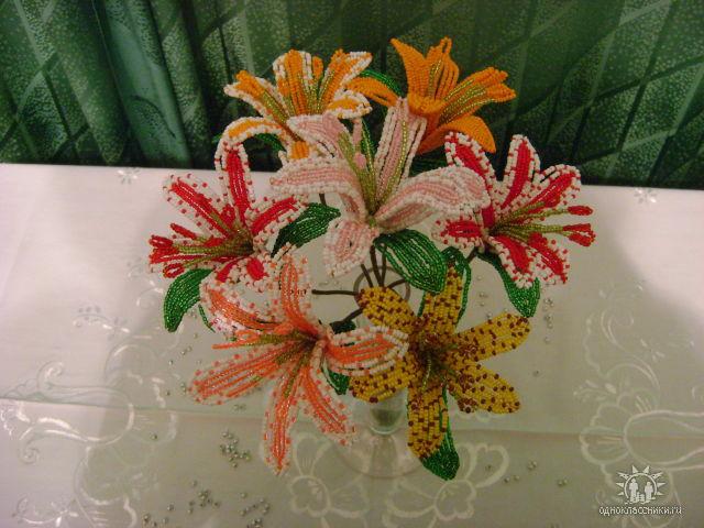 из бисера мастер класс цветочки на леске фото - Сайт о бисере.
