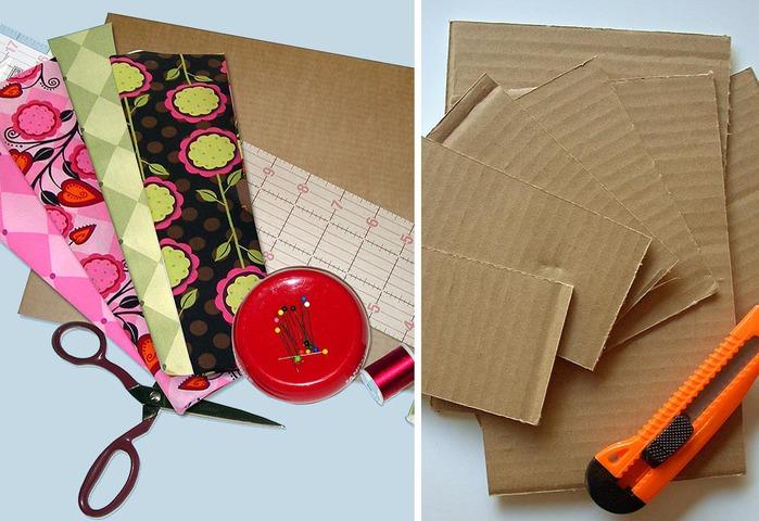 Коробка для вещей из ткани своими руками