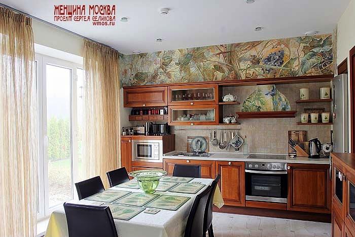 фото декорированных стен кухни