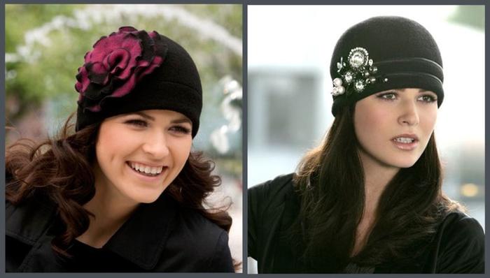 Модные женские шапки своими руками из ткани 25