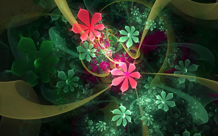 3д картинки цветы 5