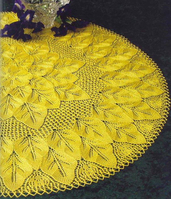 Вязание салфеток спицами