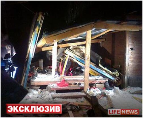 В распоряжении портала оказался снимок подсобки, в которой на телепроекте взорвалась самодельная бомба.