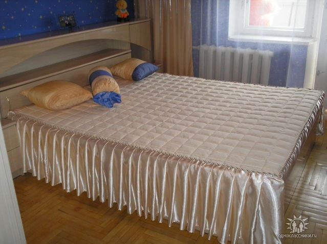 Покрывало на кровать своими руками сшить