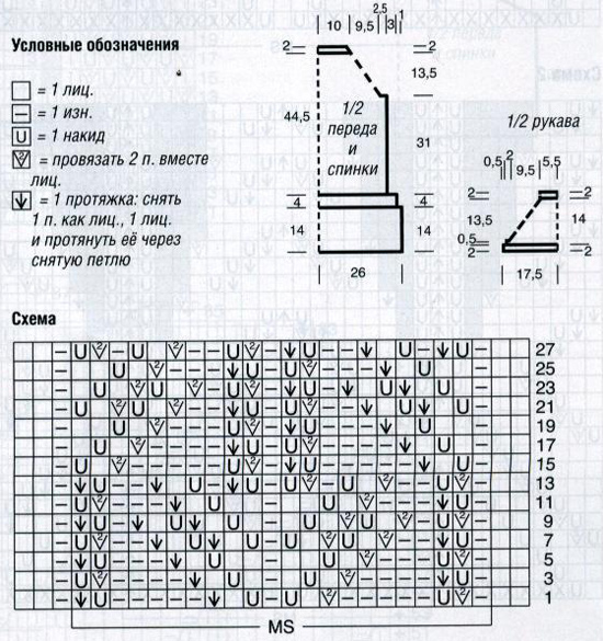 Летняя кофточка женская схемы описания вязания