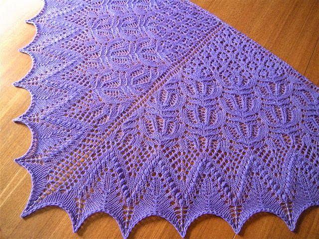 Вязание шали спицах фото