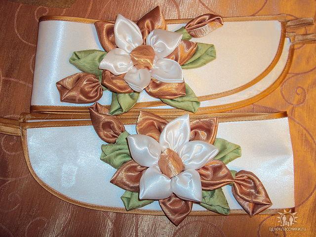 Цветок из вуали своими руками для штор