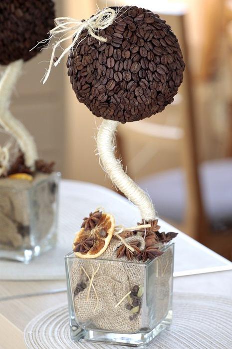 Декоративное кофейное дерево.  Мастер-класс по изготовлению стильного предмета интерьера.