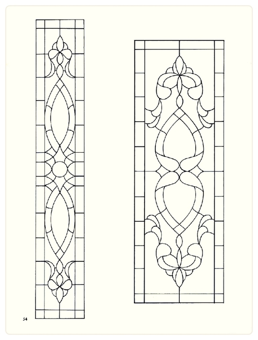 Decorative Doorways Stained Glass - 54 (530x700, 130Kb)