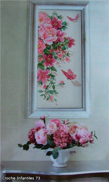 розовые цветы и бабочк (383x640, 46Kb)
