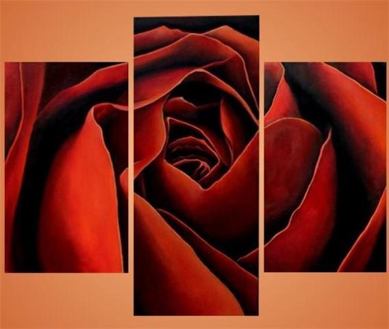 """Как успешно цитировать пост с вложением в свой дневник на ЛиРу.  Триптих  """"Роза """".  Вышивка крестом, схемы."""
