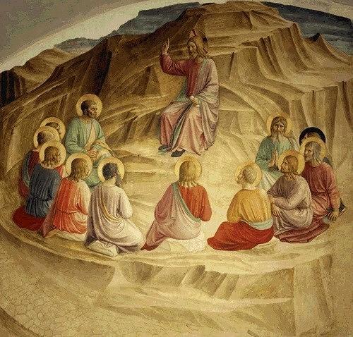 Фреска. Монастырь Сан Марко. Христос и 12 апостолов (500x478, 103Kb)