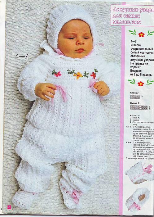 Вязание на спицах для девочек новорожденных