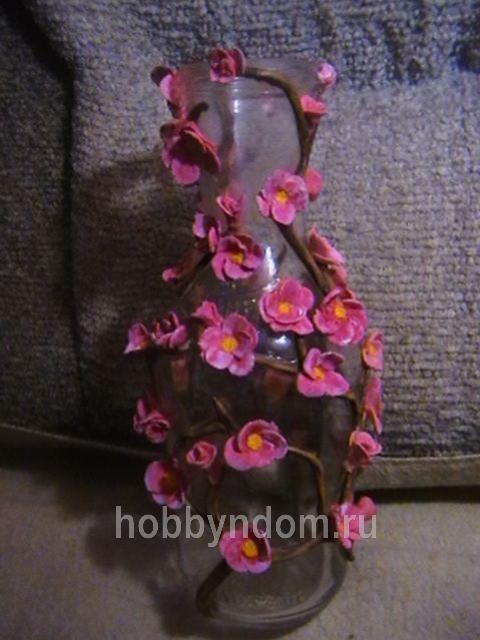 Ваза для цветов своими руками из соленого теста